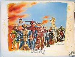 Watson Original Painting Marvel Encyclopedia Heroes