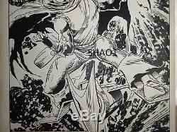 Web of Spider-Man annual 3 comic book original art OA Hobgoblin splash