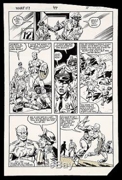 What if #44 Captain America Art by Sal Buscema