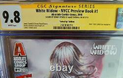 White Widow NYCC Preview Book CGC Gold Label 9.8! Double signed