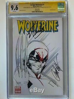 Wolverine #1 CGC 9.6 J Scott Campbell ORIGINAL ART SKETCH Stan Lee signed