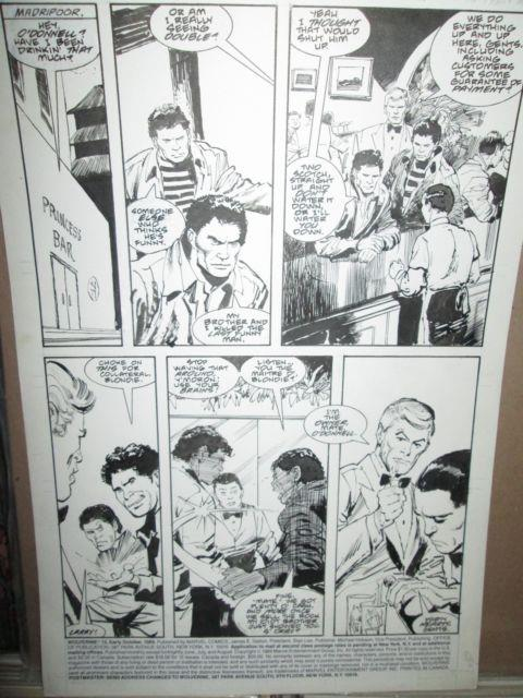 Wolverine 13 Original Page #1 Art John Buscema 1989 Pencils & Inks First Series