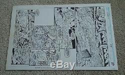 Wolverine #42 pg. 8 Marc Silvestri Green Original Comic Art Sabretooth