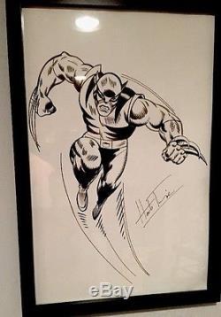 Wolverine Framed Original Art by Herb Trimpe First Wolverine Artist HULK 181