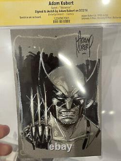 Wolverine Sketch Card Adam Kubert Original Art Drawing CGC SS ink RARE