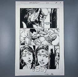 Wonder Woman #39 ORIGINAL ART by DAVID FINCH Batman Cyborg Justice League1 11x17