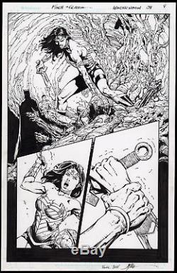 Wonder Woman #39 Splash Art by David Finch Batman and Superman