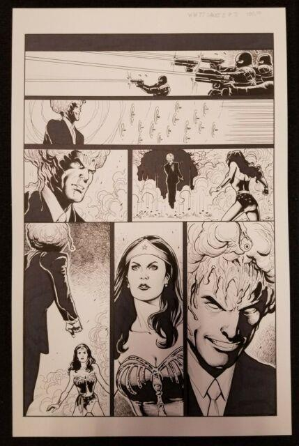Wonder Woman'77 Tom Derenick Original Art Page Lynda Carter Likeness Dc Comics