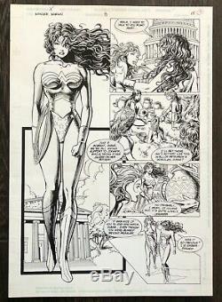 Wonder Woman Original Art by Mike Deodato