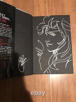 Wonder Woman Original Sketch Jim Lee Artwork Justice League HC Signed Geoff John