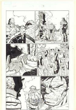 World War Hulk #3 p. 28 Hulk and Korg 2007 art by John Romita Jr