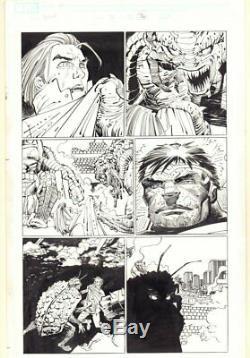 World War Hulk #3 p. 36 Hulk and Miek 2007 art by John Romita Jr