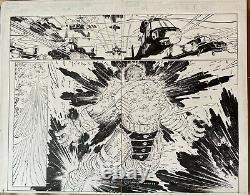 World War Hulk Pg 4-5 DPS John Romita Jr Klaus Janson Original Art Pak Immortal