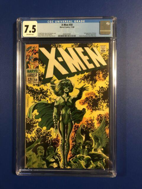 X-men #50 Cgc 7.5 Vf (1968) 2nd Polaris, Origin Beast, C/art By Steranko Beauty