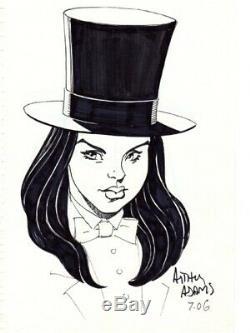 Zatanna Arthur Adams Original Art, Head Sketch