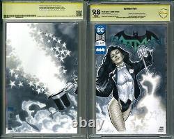 Zatanna Wraparound Sketch Cover Original Comic Art by Marco Santucci CBCS 9.8